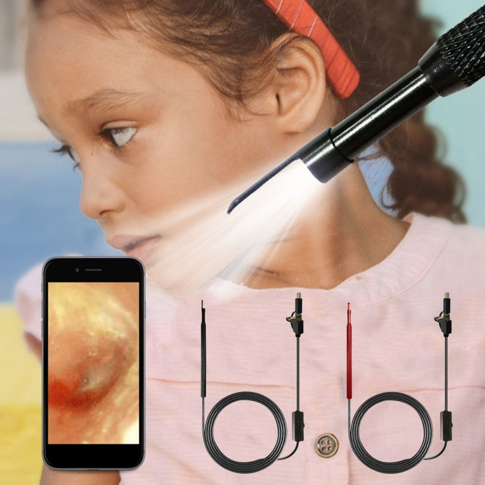 3-in-1 HD Visual Earpick USB Type-c Ear Cleaning Tool In-ear Cleaner With LED Camera Endoscope Ear Spoon Health Care Tool 3 in 1 usb otg visual ear cleaning endoscope spoon functional diagnostic tool ear cleaner android 0 3mp camera ear pick