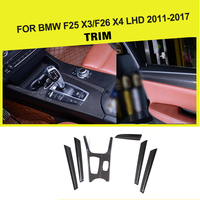 Car styling Carbon Fiber interior dashboard decoration trim for BMW F25 X3 & F26 X4 2014 left hand drive