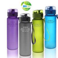 Botella de agua deportiva de 560 ml, calabaza en plástico, botella para gimnasio, garrafa vasos de plastico con tapa y pajita bpa