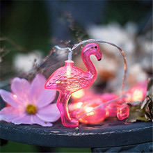1x clearance 20092604 flamingo lights 10led string light party wedding bedroom light girl room decoration lantern string light - Christmas Lights Clearance Online