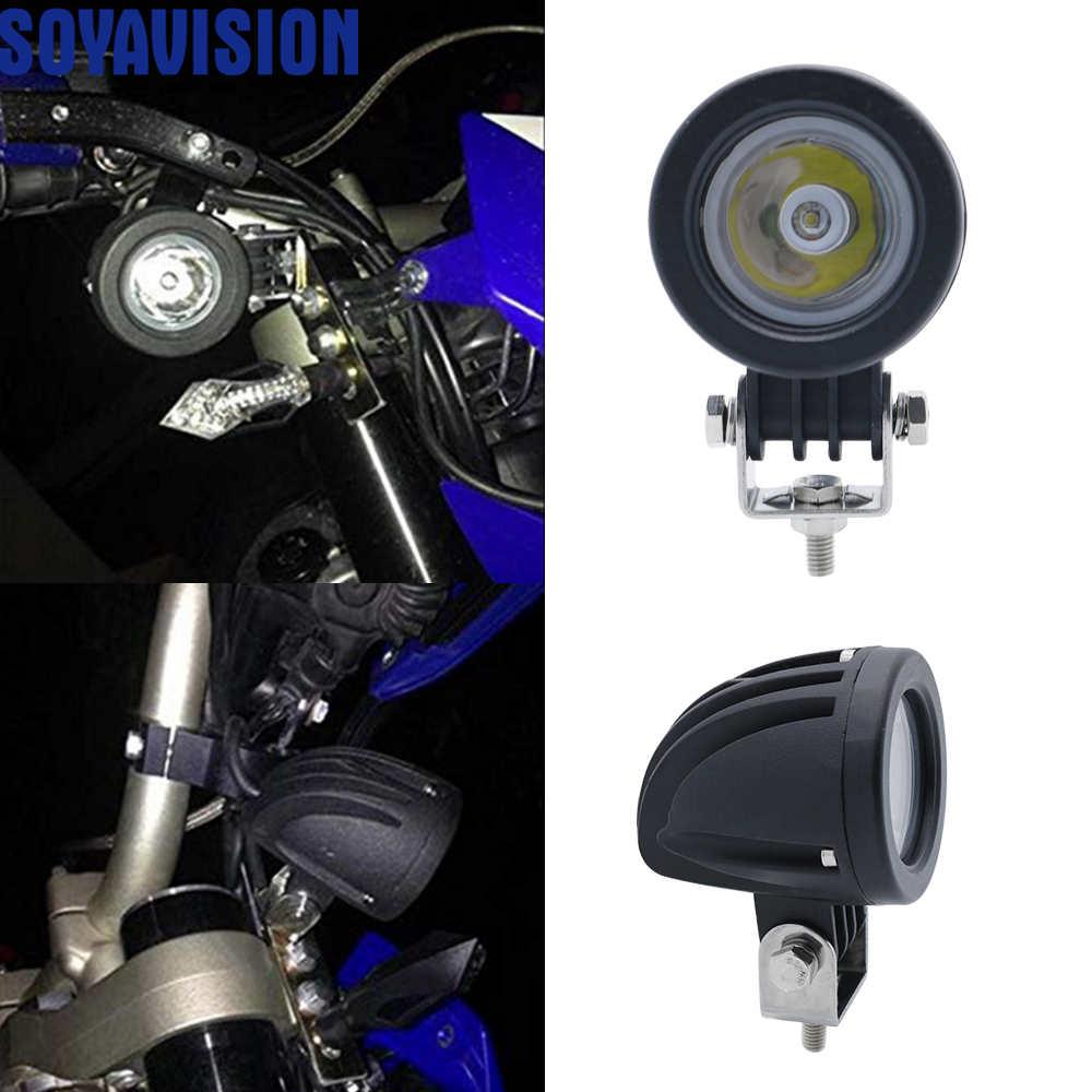 2 Inch 12V//24V 10W LED Work Light Driving Fog Lamp for Car Motorcycle Boat ATV