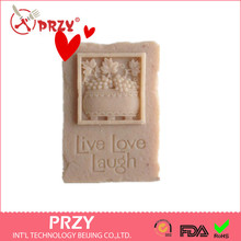 DIY Vase/live love laugh modelling silicon soap mold Cake decoration mold Handmade soap mold printio love laugh live