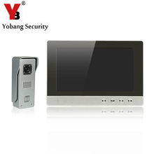 YobangSecurity 10-Inch LCD Video Doorbell Intercom Door Phone Camera System Kit with 1 Camera 1 Monitor