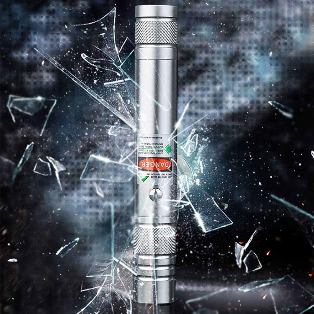 ירוק לייזר USB נטענת טעינה גבוהה כוח קרן ירוק נייד 5 mw מצביע לייזר עט עוצמה אור שריפת לייזר