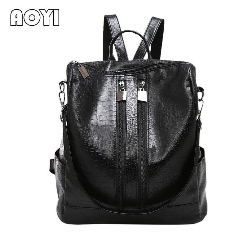 AOYI Shoulder Bag Women Luxury Backpack Women Bags Designer Women Leather Bag Women s Teenagers Backpack
