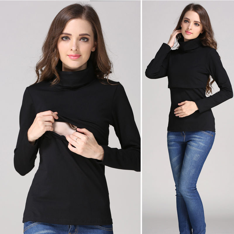 Fashion Nursing Tops Maternity sweater Breast feeding clothes autumn and winter Nursing Tops Long Sleeve for Pregnant Women стоимость