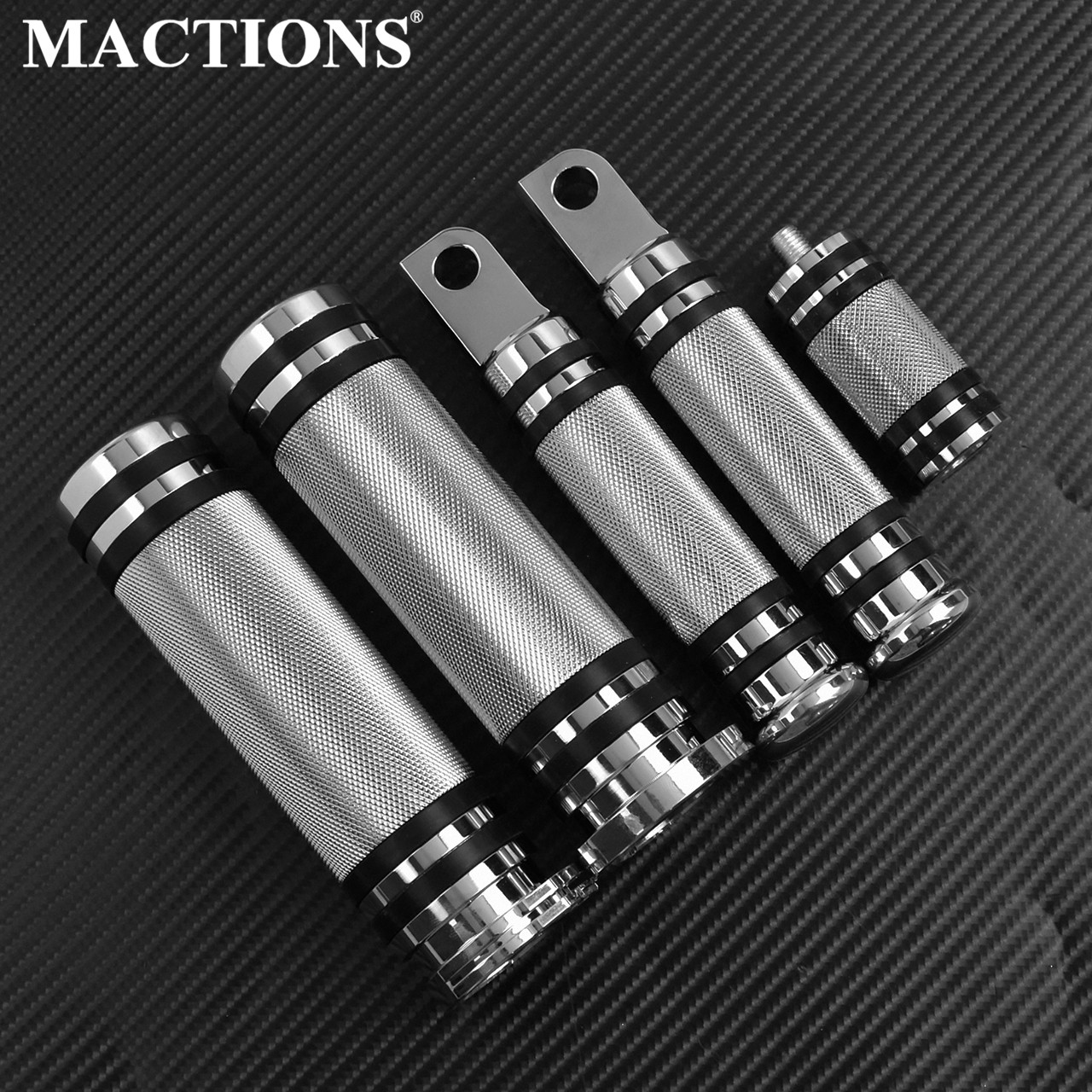 MACTIONS CNC Hand Bar Grips FootPegs Gear Shifter Pegs For Harley Sportster 883 Touring Dyna Breakout Softail Chopper Custom