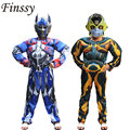 Cosplay transformadores optimus prime bumblebee traje para as crianças se adapte conjunto roupas máscara do carnaval de natal frete grátis
