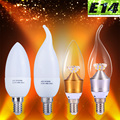 E14 220 V Vidro Bombilla Handelier 3 W de Poupança de Energia da Vela do Candelabro Da Lâmpada 5 W CONDUZIU a Iluminação Home Decorativas LEDs Sconce Lâmpadas