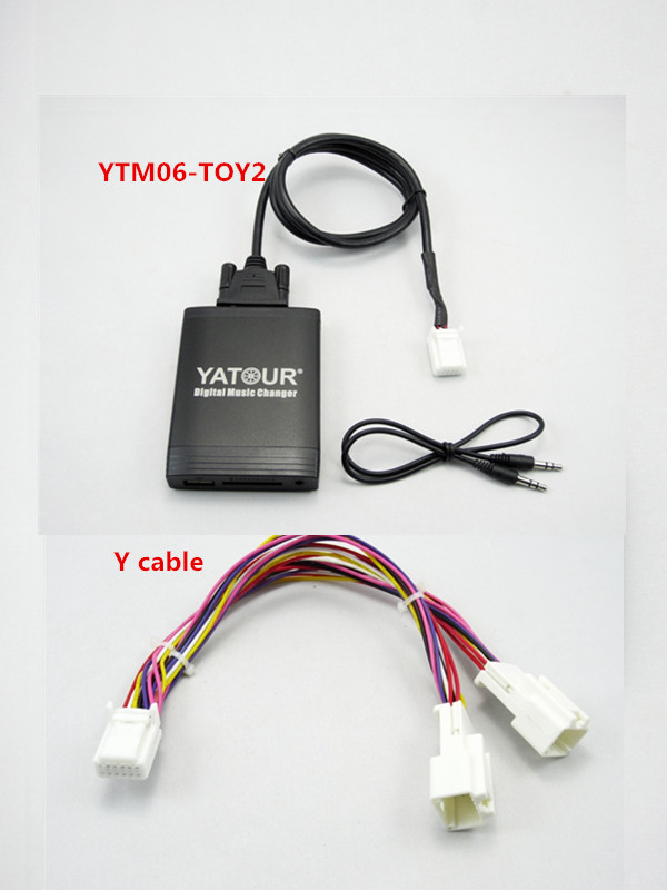Yatour Car Music Audio Mp3 Player for Toyota Lexus Scion 2003 2013 With Navigation Y cable