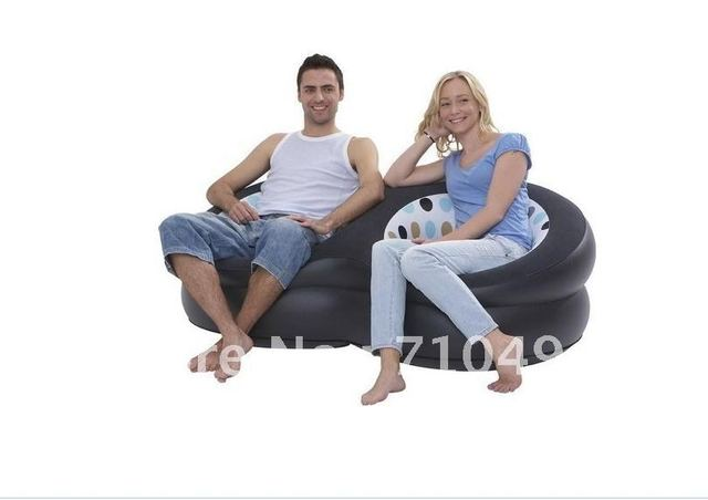 Free DHL Shipping JiLong double blow up chair with intex