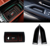 3pcs Accessories Car Interior Central Front Side Car Door Storage organizer Box Holder for Peugeot 3008 GT 2016 2017 2018 3008GT
