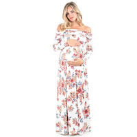Sexy Long Sleeves Maternity Dresses Long Maternity Dresses For Pregnant Women Off Shoulder Pregnant Dresses Maternity Clothes