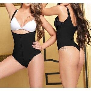 Damskie seksowne stringi urządzenie do modelowania sylwetki nosić otwarte krocza Underbust Body czarny zamek bielizna Fajas Reductoras treningowy do wyszczuplania talii
