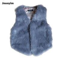 Fashion Imitate Faux Fur Design Children Outerwear Solid Color Boys Girls Waistcoat Autumn Winter Vest Coat Jacket Kids Clothes