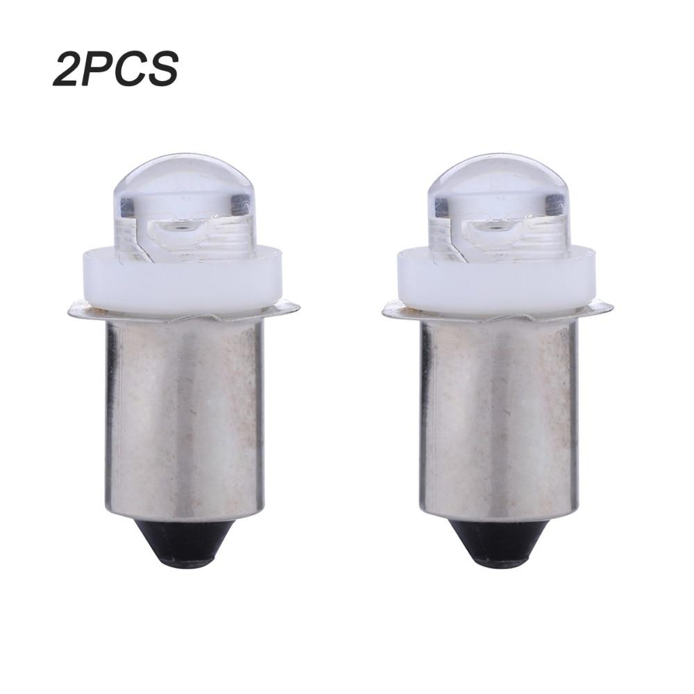 цена на 2PCS/LOT P13.5S PR2 E10 0.5W LED For Focus Flashlight Replacement Bulb Torches Work Light Lamp DC3V 5V 6V Pure White Bulb