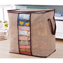 New Non-woven Portable Clothes Storage Bag Organizer 45.5*51*29cm Folding Closet Organizer For Pillow Quilt Blanket Bedding