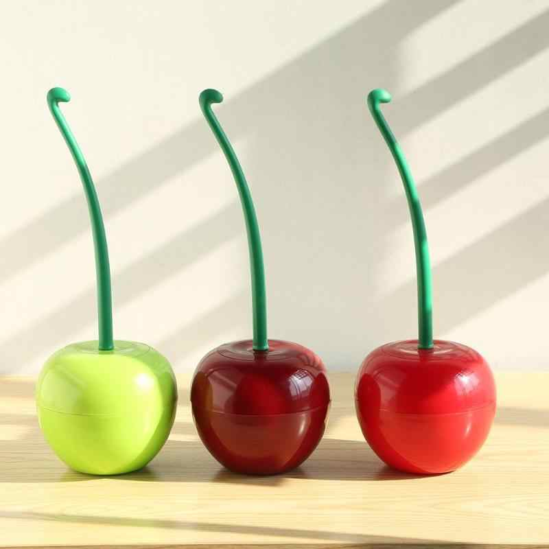 1PC Lovely Cherry Shaped Toilet Brush Lavatory Cleaning Tool Washroom Brush Holder Plastic Household Bathroom Decor Accessories