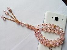 Недорогой оптовый розовый кристаллический мусульманский четки