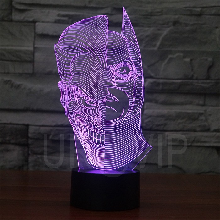 JC-2835  Amazing 3D Illusion led Table  Lamp Night Light with double face shape   (6)