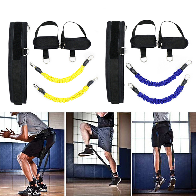 Fitness Trainer Rope Resistance Band Basketball Tennis Running Jump Leg Strength Agility ...