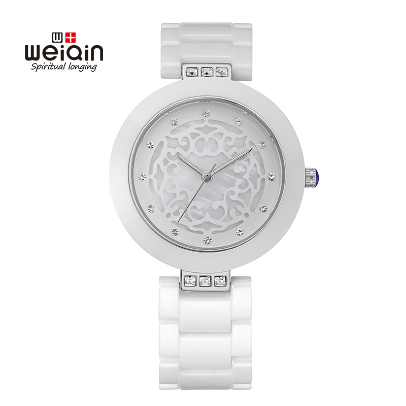 Weiqin White Women Watches Top Brand Luxury Reloj Oro Rosa Mujer Montre Etanche Femme Ladies Bracelet Quartz Watches Relogio