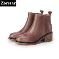 {Zorssar} 2018 New Spring Autumn women shoes ankle boots High heel platform Shoes Fashion Casual Vintage Womens Martin boots