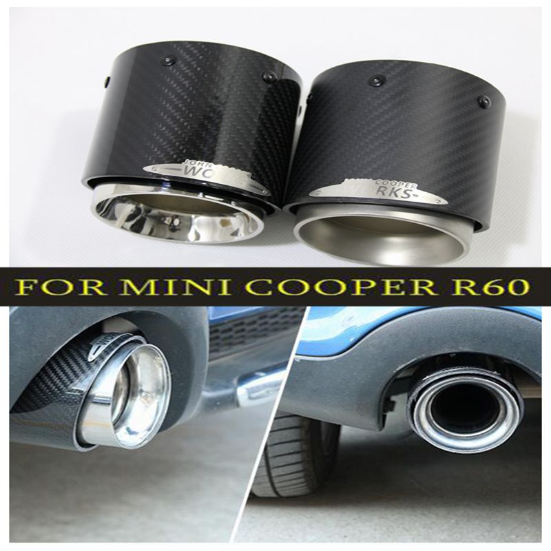Hot sale For Mini Cooper car-styling carbon fiber exhaust pipes Muffler suitable for R55 R56 R60 R61 F55 F56 F54 car styling sun protection cool hat car logo for mini cooper s r53 r56 r60 f55 f56 r55 f60 clubman countryman roadster paceman car styling