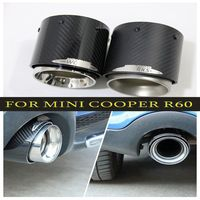 Hot sale For Mini Cooper car styling carbon fiber exhaust pipes Muffler suitable for R55 R56 R60 R61 F55 F56 F54 car styling