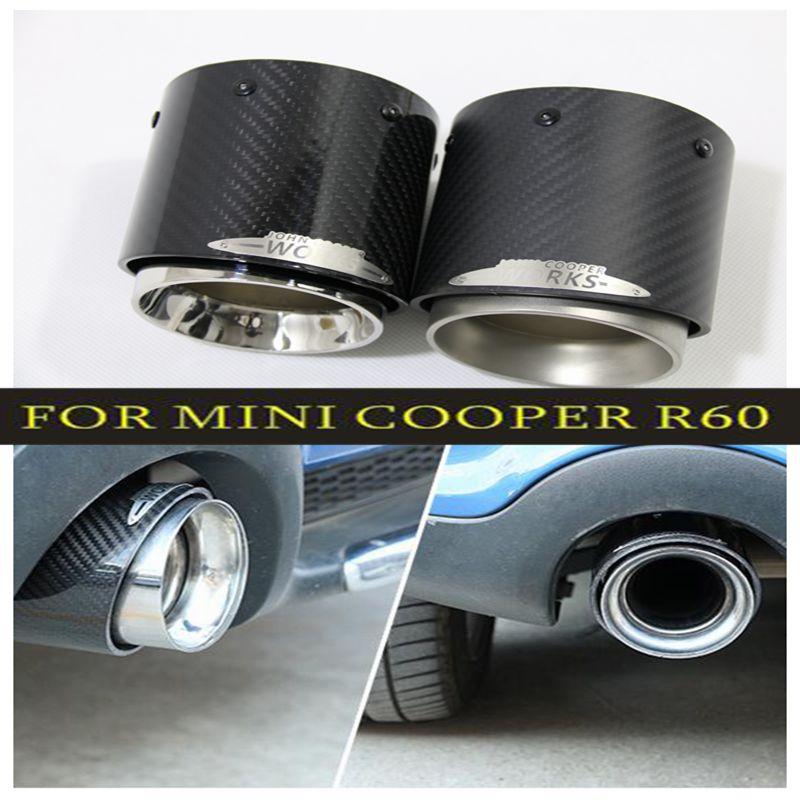 Vente chaude Pour Mini Cooper voiture-style fiber de carbone tuyaux d'échappement Silencieux approprié pour R55 R56 R60 R61 F55 F56 F54 car styling