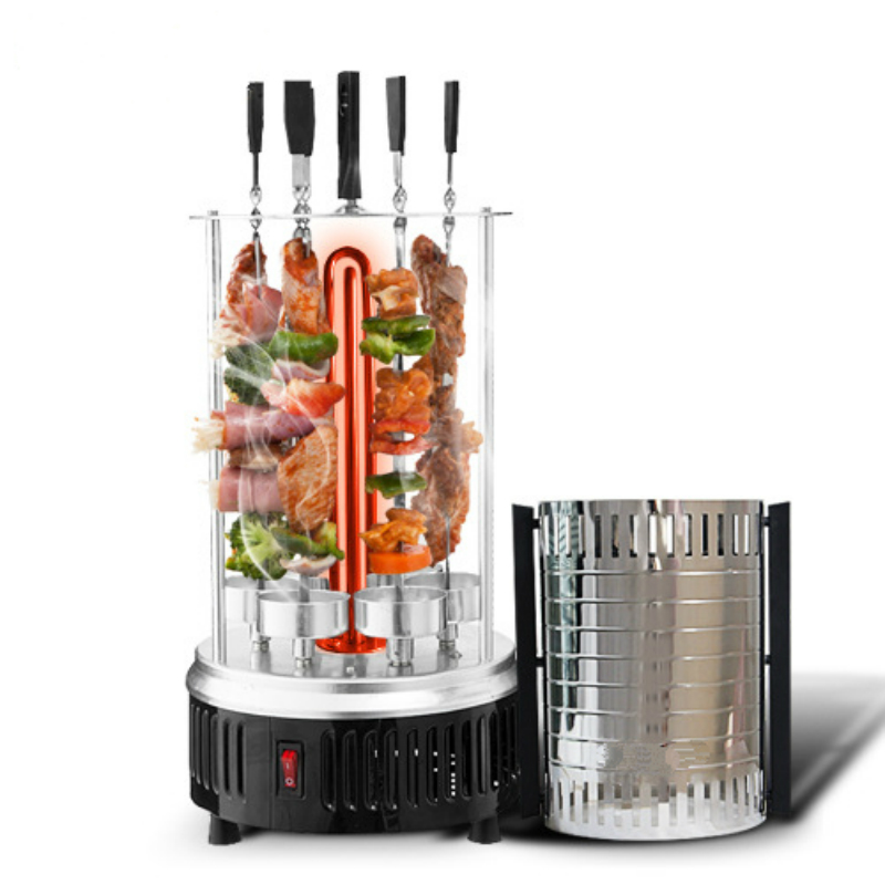 Electric oven smokeless barbecue BBQ kebab rotary machine grill automatic rotation rotisserie Roast domestic lamb skewers 1pc hot sale 100%quality guaranteed doner kebab slicer two blades electrical kebab knife kebab shawarma gyros cutter