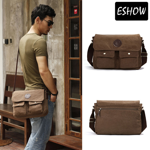 Aliexpress.com : Buy Eshow Mens Messenger Bags Canvas Bag Vintage ...
