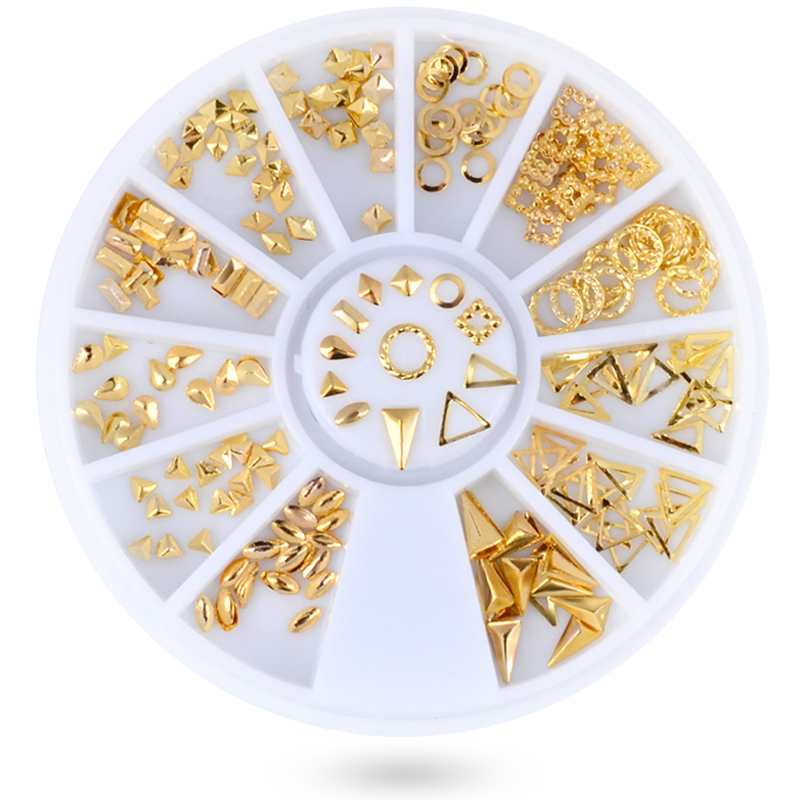 Aliexpress.com : Buy Mixed Gold Nail Art Metallic Flakes ...