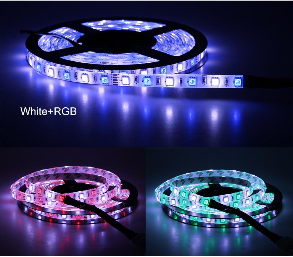 HTB19b6ABZuYBuNkSmRyq6AA3pXai LED Strip 5050 DC12V 60LEDs/m Flexible LED Light RGB RGBW 5050 LED Strip 300LEDs 5m/lot