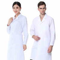 Doctor Clothes White Long Sleeved Men And Women Laborers Overalls Short Sleeved Nurse Suit Beauty Salon