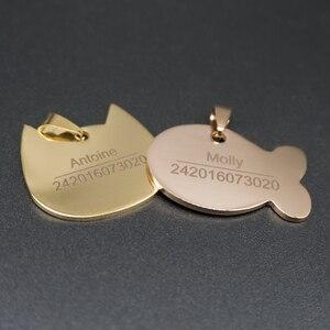 Image 4 - Cá Tính Dog Tag Inox Khắc Tên ID Thẻ Cho Chó Cổ Chống Mất Thú Cưng Bảng Tên Mặt Dây Chuyền Cho Pitbull labrador