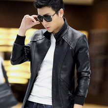 2015 men's leather coat men's jacket coat jacket