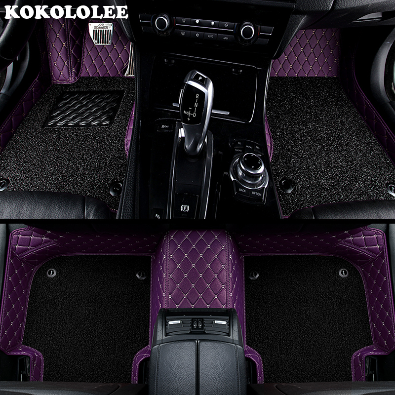KOKOLOLEE Custom car floor mats for Chevrolet All Models Captiva Cruze Sail Spark Aveo Blazer Sonic car accessories car-styling custom logo car floor mats for chevrolet captiva chevrolet lacetti epica sonic aveo sail trax cruze auto accessories car mats