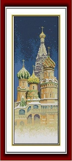 Вышивки крестом зданий