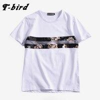 T Bird 2017 New Fashion Summer Short Men T Shirt Brand Clothing Cotton Comfortable Male T