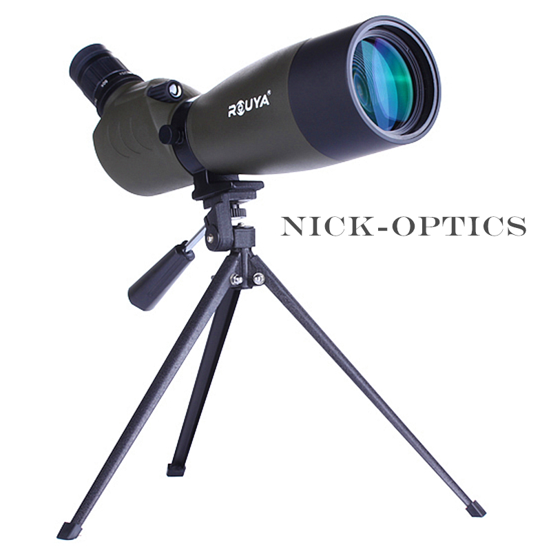 Rouya Telescope 20-60X60 Target Spotting Scope Porro BAK4 Monocular For Birdwatching High times Zoom Telescope Astronomical outdoor 20 60x60 zoom monocular telescope spotting scope optical lens with tripod carrying bag for birdwatching hunting dp006