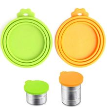Silicone Canned Lid Sealed Feeders Pet Food Can Cover Lid Storage Top Cap Reusable Cover Lid Health Pet Daily Products(China)
