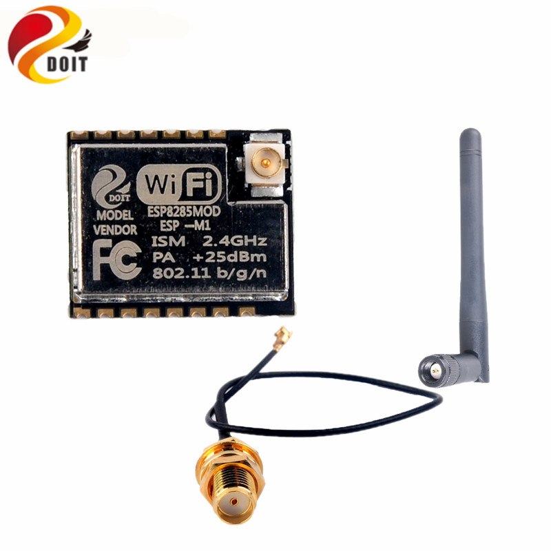 10pcs lot ESP M1 ESP8285 Wifi Module Serial Port Ultra Small Size Wireless Transmission With External