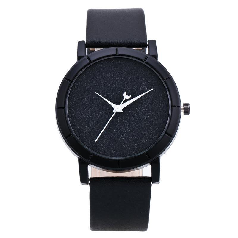 Defoe Simple Style Women Watch Casual Quartz Leather Student Watch Men Hot Sale Analog Wristwatch Relogio Feminino