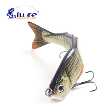 iLure Fishing Wobbler 12cm 4 Segments Swimbait Crankbait Fishing Bait Isca Artificial Para Pesca Bait Peche Hard bait jig carp