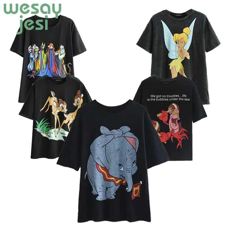 T     shirt   women 2019 new fashion summer Dumbo print short-sleeve women's   T  -  shirt   harajuku loose cheap clothes   t  -  shirt   plus size