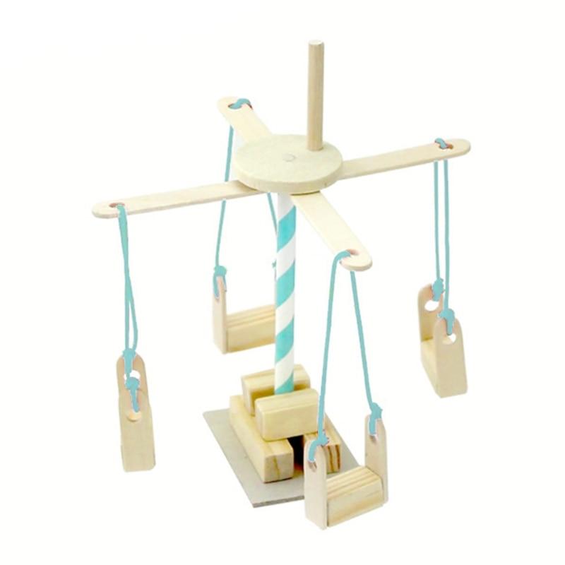 Сделай сам собрал деревянная карусель науки Технология образования эксперимента kidsToy W15