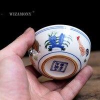 1 шт. wizamony китайская династия Мин чашка с изображением курицы фарфор гайвань Китай Чайные чашки фарфоровая чаша китайский заварочный чайник...