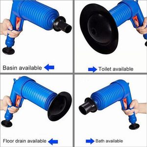 Image 5 - זרוק חינם בית גבוהה לחץ אוויר ניקוז Blaster משאבת בוכנת כיור צינור מסיר לסתום שירותים אמבטיה מטבח ערכה לניקוי