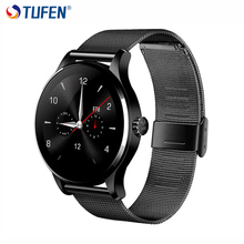 K88H Smart Watch IOS Android Heart Rate Monitor Watch 1 22 Inch IPS Round Screen Bluetooth
